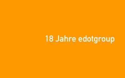 18 Jahre edotgroup